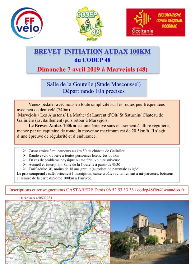 BREVET INITIATION AUDAX 100KM